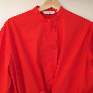NWOT & other stories orange poplin dress